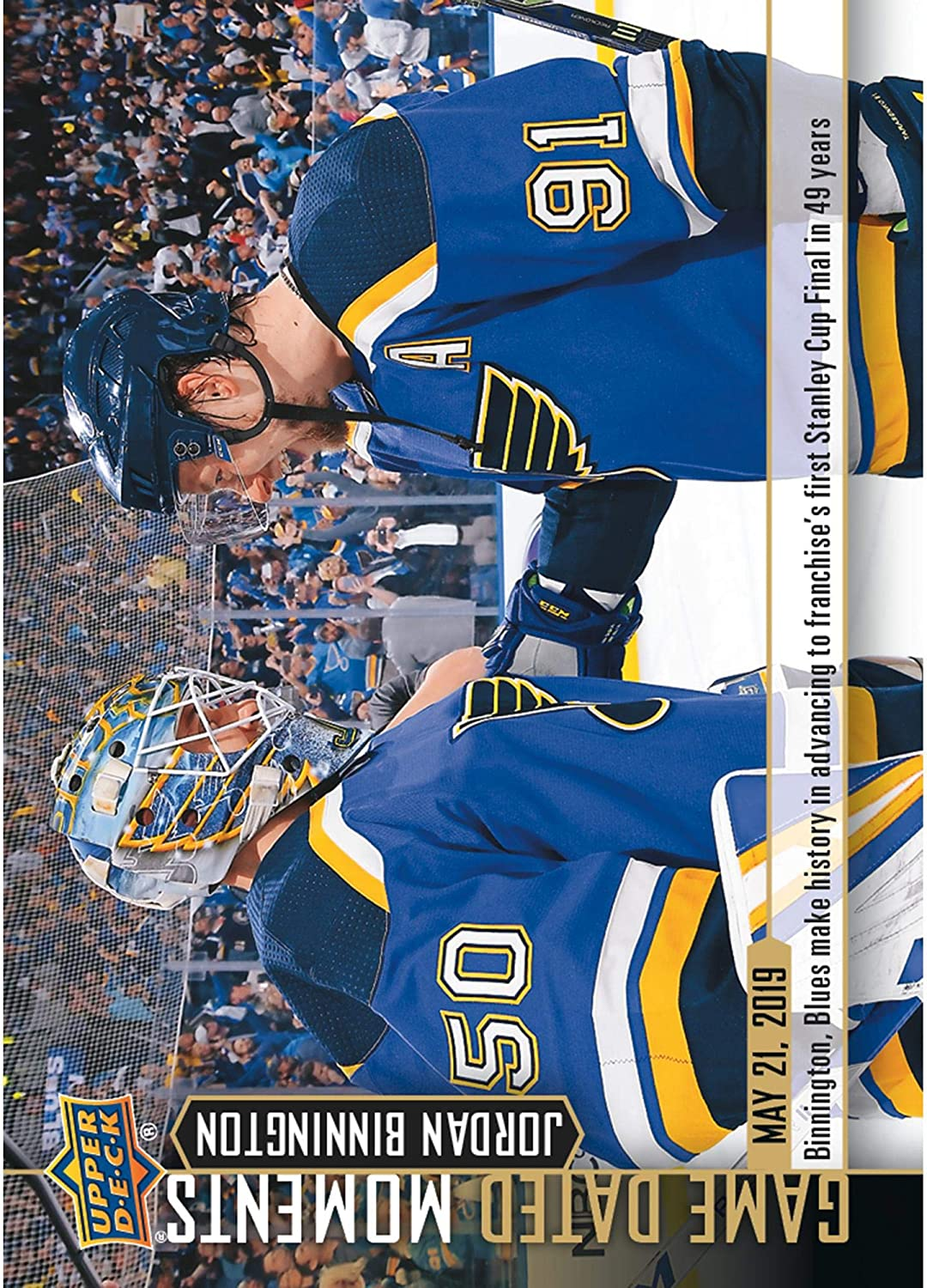 Louis Blues Unsigned 2018-19 Upper Deck Game Dated Moments #96 Trading Card St Blues Clinch First Western Conference Championship in Franchise History