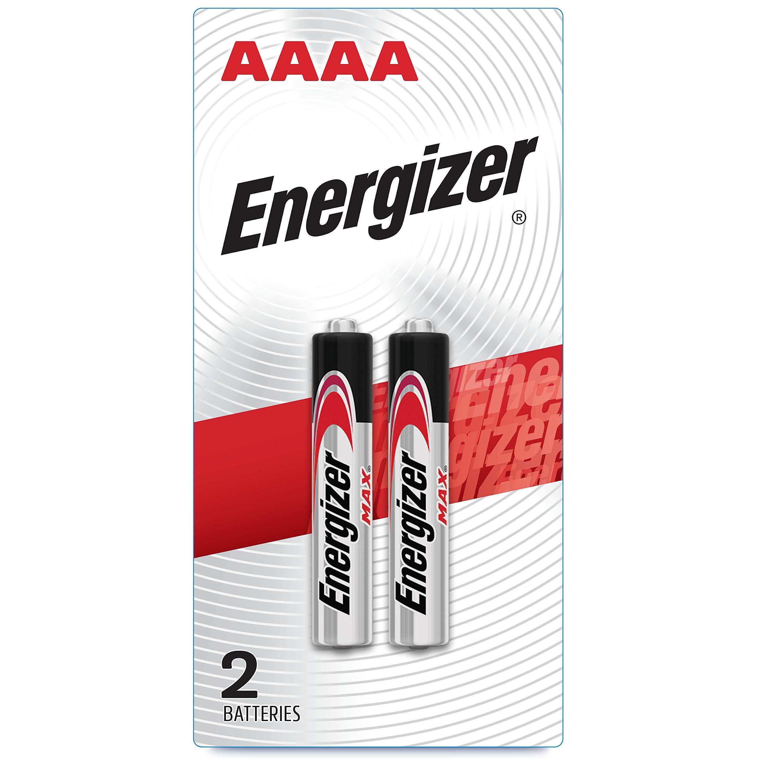 Energizer AAAA Batteries, 1.5V Alkaline AAAA Battery (2 Pack)