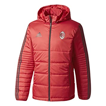 adidas AC Milan Men's Winter Jacket VicredBlack, 2XL