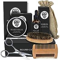 Beard Kit, Beard Growth Beard Care Beard Grooming Kit for Men, Organic Beard Oil, Beard Balm, Boar Bristle Beard Brush…
