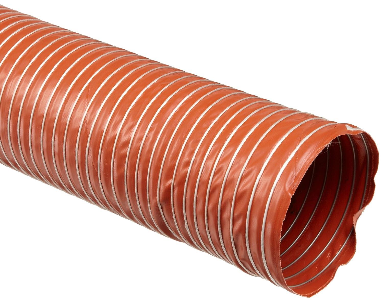 "Heat-Flex BDS Fiberglass Duct Hose, Iron Oxide Red, 6"" ID, 12' Length"