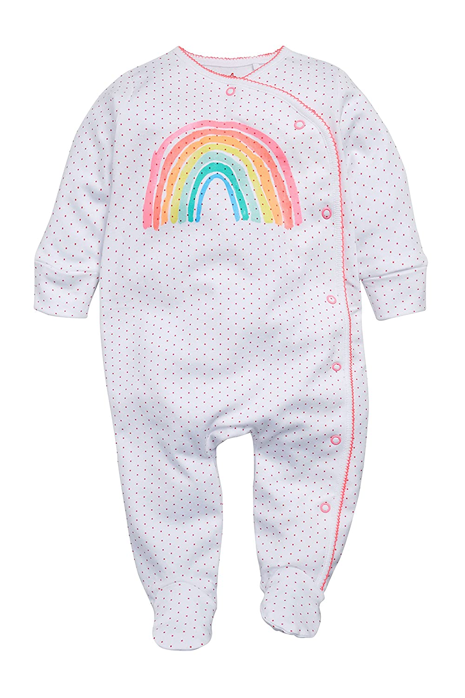next Bebé Niña Pack De Tres Pijamas Arcoíris (0 Meses - 2 Años) Corte 2e58abc99b8