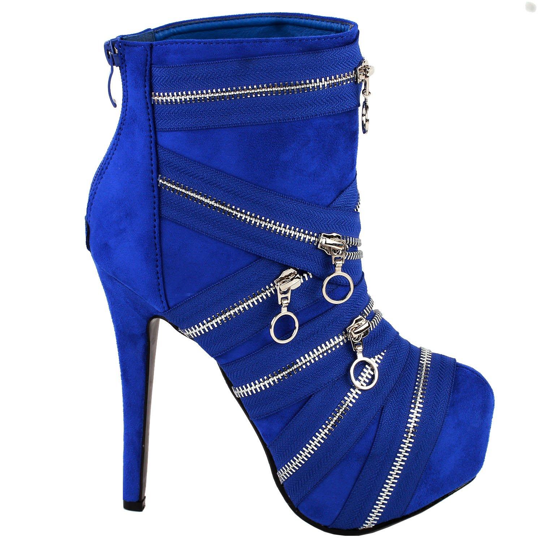 Show Story Chic Sassy Blue Pull-On Vogue Latest Stylish Pumps,LF80845BU40,9US,Blue
