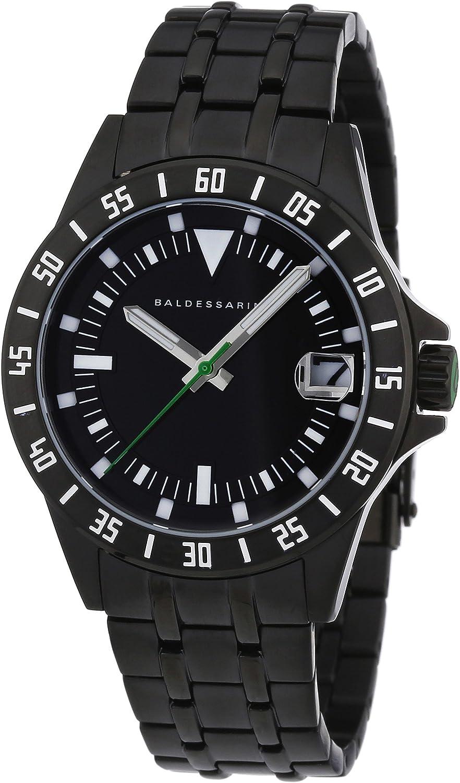 Baldessarini Y8035W/20/00 - Reloj analógico de Cuarzo para Hombre con Correa de Acero Inoxidable, Color Negro