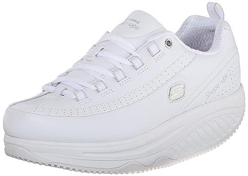 fa1aadc8696c6 Skechers Shape-Ups Elon Mujer US 8.5 Blanco Zapatos para Caminar  Amazon.es   Zapatos y complementos