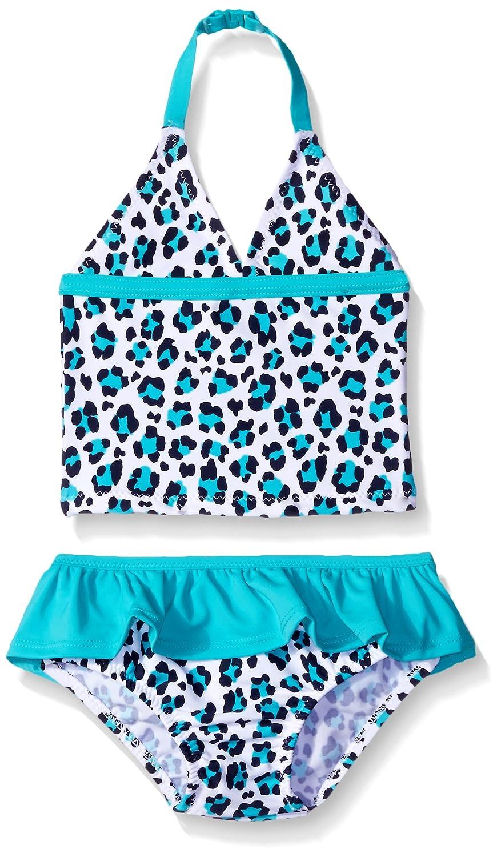 OshKosh B'Gosh Osh Kosh Baby Girls' Two Piece Halter Tankini With Skirted Bottom Turquoise 24 Months SB165022