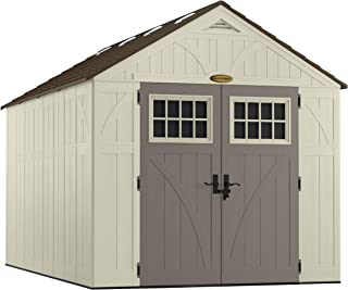 product image for Suncast 13' x 8' Heavy-Duty Resin Tremont Storage Shed, Sand