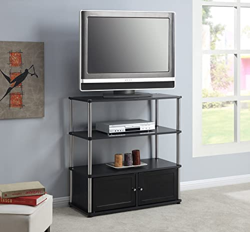Convenience Concepts Highboy Stand for Flat Panel TV s Up to 37-Inch, Black