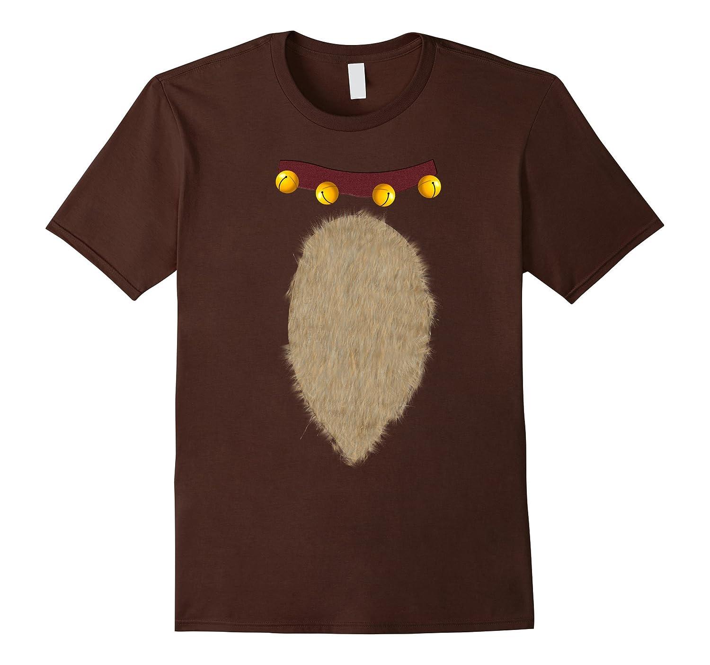 Christmas Reindeer Costume T Shirt Brown-Teesml
