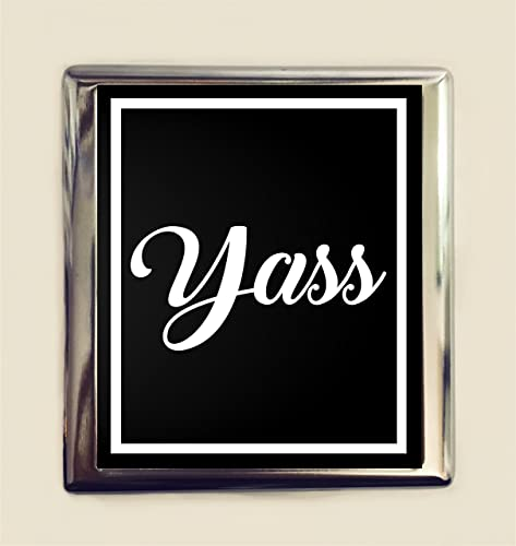 Amazon yass cigarette case business card id holder wallet funny yass cigarette case business card id holder wallet funny trendy slang yes reheart Gallery