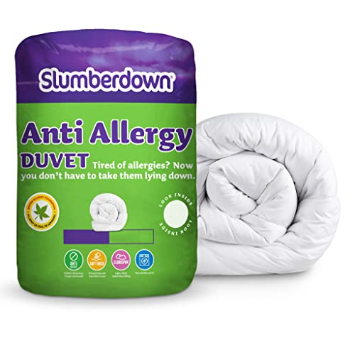 Slumberdown Anti Allergy Summer Cool 4.5 Tog Duvet, White, King Size