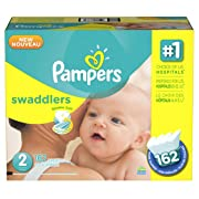 Pampers Swaddlers Disposable Diapers Size 2, 132 Count, GIANT (Packaging May Vary)
