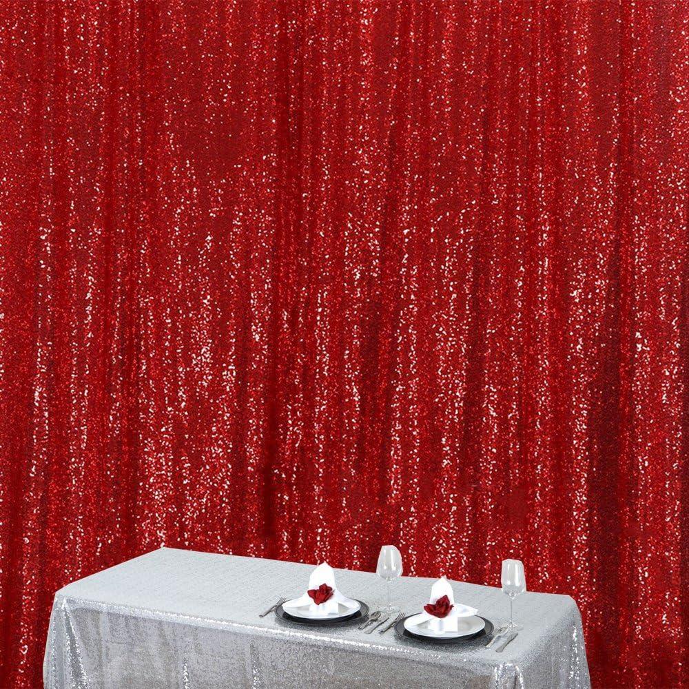 Zdada Red 5ftx7ft No Thin Wedding Sequin Backdrop