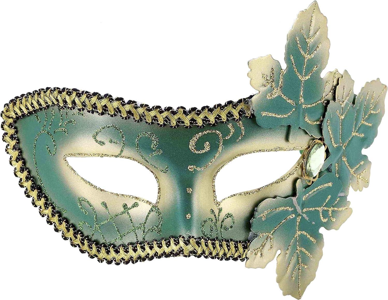 Mardi Gras Masquerade Leaf Adult Mask