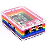 Pibow Case Rainbow Multi-coloured for Raspberry Pi 3, 2 and Model B+ Cover