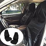 Coprisedili per auto, KOROSTRO Coprisedili Anteriori per auto Copertura Protezioni Sedile Auto Seat Cover impermeabili coprisedile (Nero)
