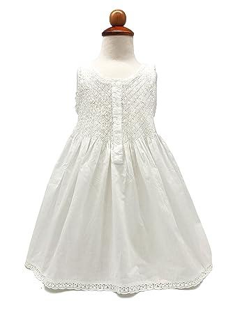28d74e31e48 Amazon.com  Handmade Girls  Embroidered Night Dress White - Age 2-9 ...