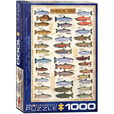 Eurographics Salmon and Trout 1000-Piece Puzzle: Toys & Games
