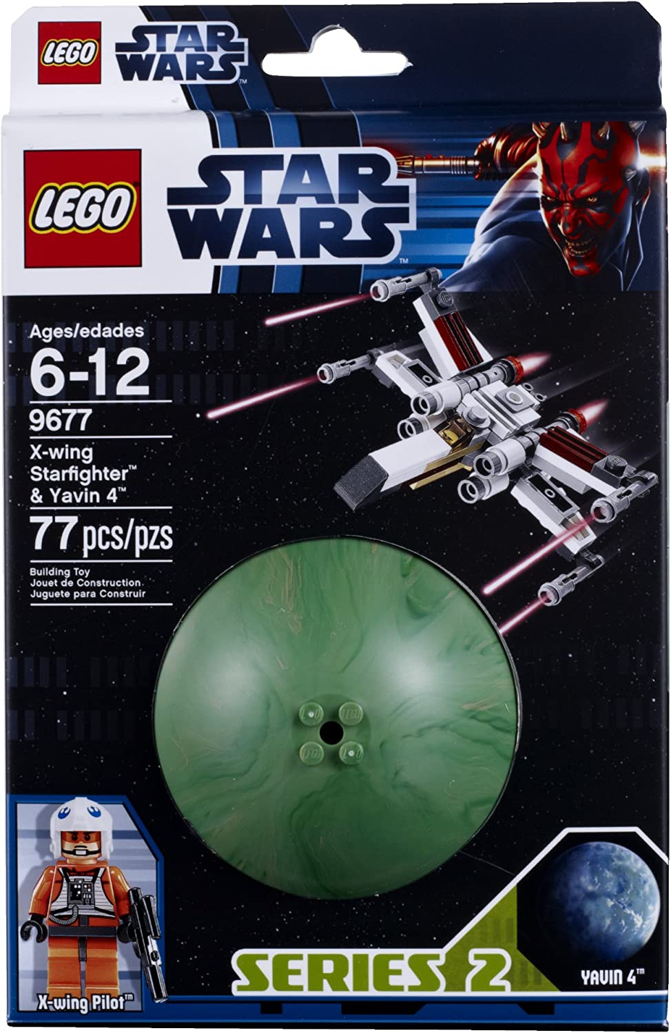 LEGO Star Wars 9677 Xwing Starfighter and Yavin 4