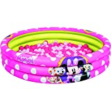 Bestway 91069 Minnie Mouse Inflatable Pool with 75 Plastic Balls, 48x10 Inch
