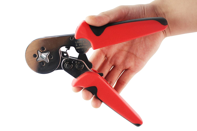 Kinee Crimper Plier 0.25 – 6.0 mm2 lsc8 – 6-4 used for 23 10 AWGケーブルend-sleeves、self-adjustable圧着ツール B01JRHDWG0