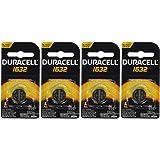 4 Pcs Fresh Duracell Lithium Battery ECR1632 CR1632 DL 1632 3V Batteries