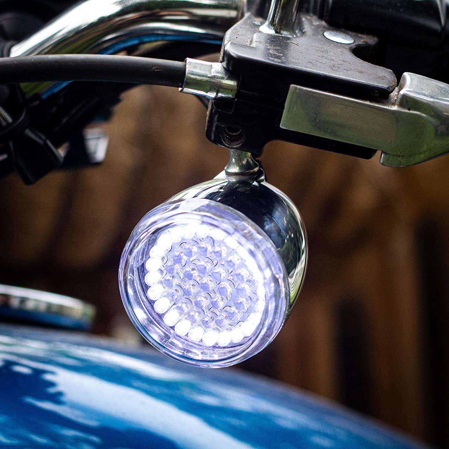 and Rear Red LED Turn Signal Kit, Add Clear Lenses 1156 Eagle Lights Harley 2 Inch LED Turn Signal Kit 1157 Front