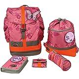 School-Mood sac à dos d'écolier Art. 6101–62–643Rose 950g incl. Sac de sport, Trousse, stif Thé Tuit