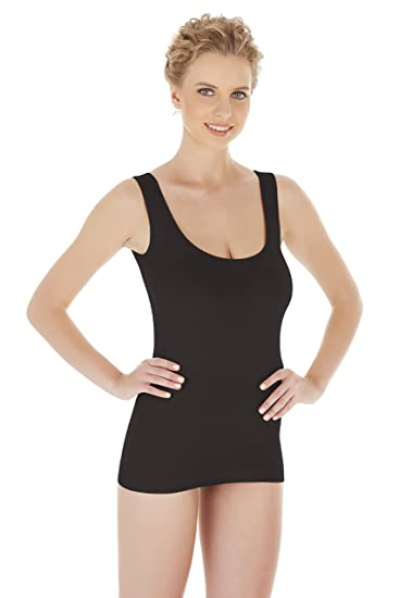 76d879831db5b Urbamboo Seamless Undershirt Camisole Tank Top (Breathable Smart Fabric)  (US X-Small