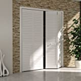 Bi Fold Closet Door, Louver Louver Plantation White (24x80)