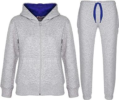 Kids Girls Designer A2Z Camouflage Contrast Tracksuit Hooded Jogging Suit 5-13Yr