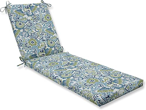Pillow Perfect Outdoor/Indoor Zoe Mallard Chaise Lounge Cushion 80x23x3,Blue