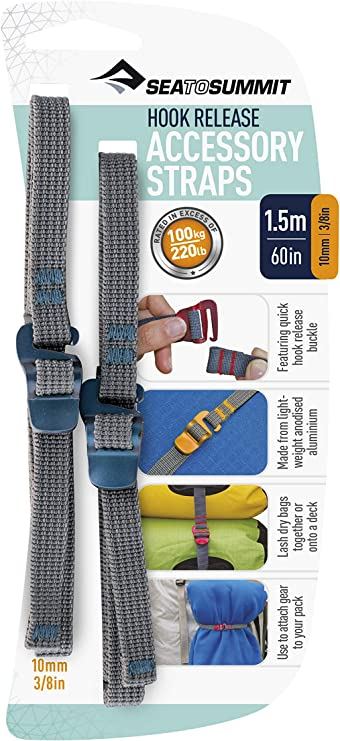 2pcs Webbing Strap Rope Tie-Down Belt For Backpacks Tent Luggage Racks Accessory