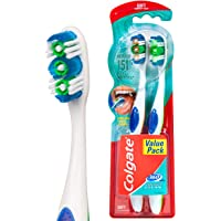 Colgate 360° Whole Mouth Clean Compact Head Toothbrush Soft 2pk