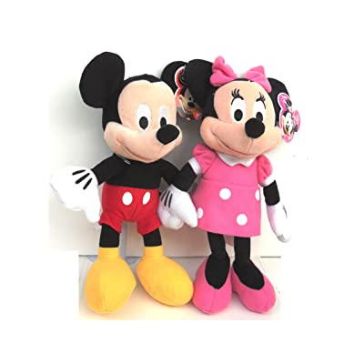 "Disney Mickey and Minnie Mouse 10"" Plush Bean Bag Doll: Toys & Games"