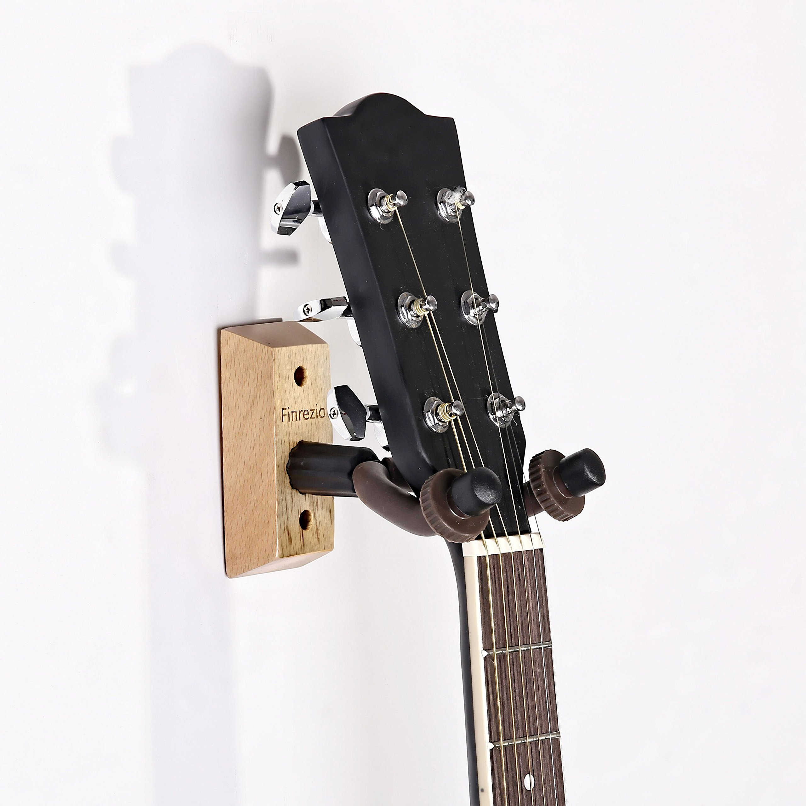 Finrezio Hardwood Home & Studio 6 String Guitar Hanger Holder Keeper Wall Stand,3-Pack by Finrezio (Image #5)