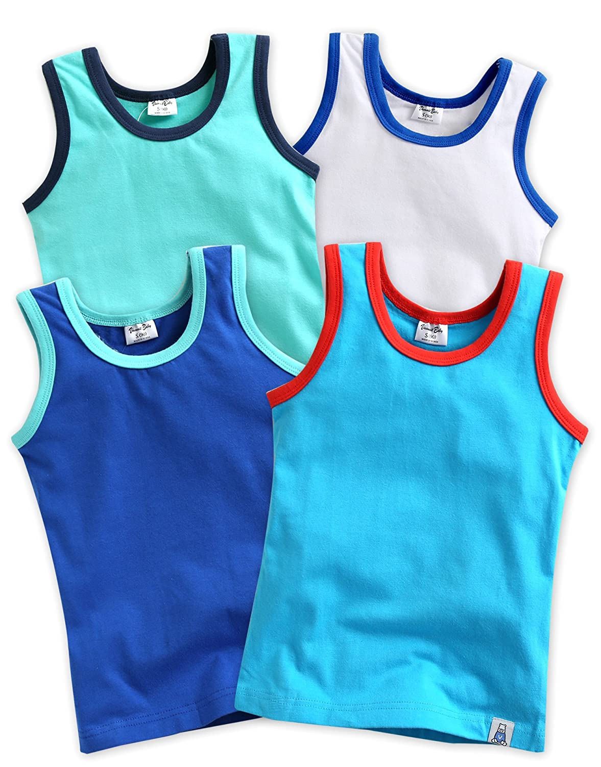 4 Pack Undershirts Days Mint / White / Blue / Sky M BB_087-2