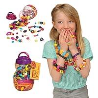 B.Toys 比乐 波普珠珠 创意DIY无绳串珠玩具 手工益智 项链手链 女孩 500粒装 无需线 BX1043Z(适用年龄:4-10岁)