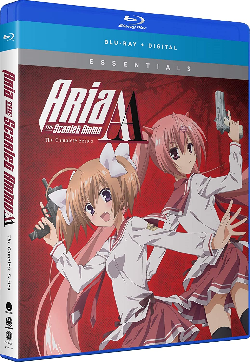Aria the Scarlet Ammo AA Essentials Blu-ray (Dual Audio)