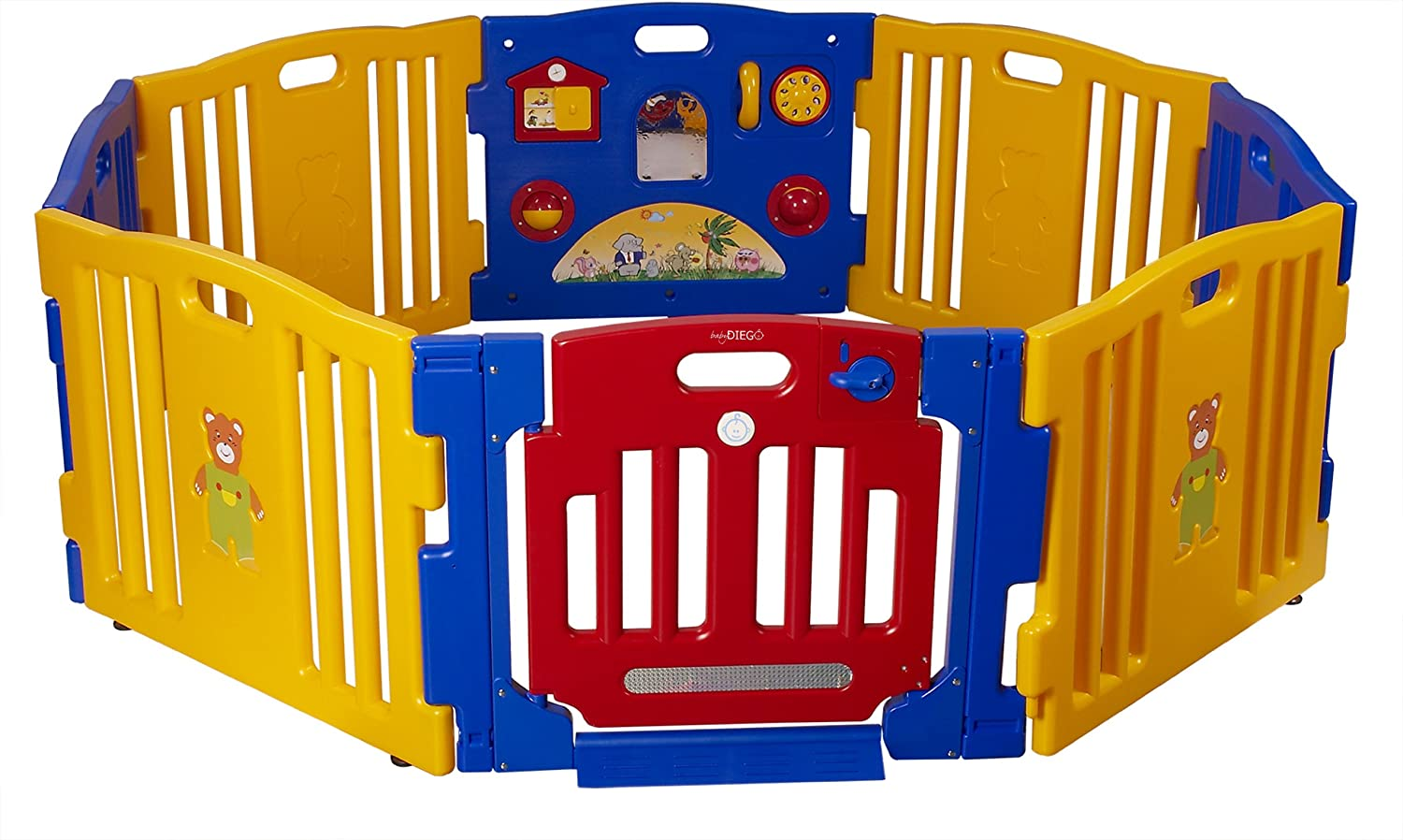 Baby Diego Playpen and Activity Center, Yellow/Red/Blue PP2013