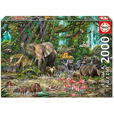 Educa African Jungle Puzzle, 2,000-Piece: Varios: Toys & Games