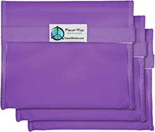 product image for Planet Wise Reusable Tint Sandwich Bag - 3-Pack - Hook and Loop (Purple)
