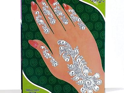 1 x bollywood mano joyería tatuaje indio sari pegar joyería India ...