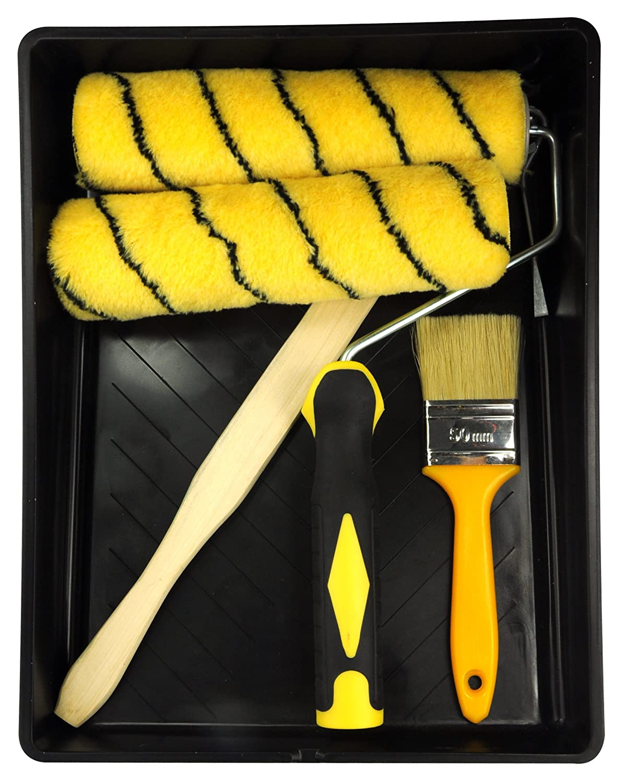 rouleaux de peinture KingOrigin 30005AF Kit de rouleau de peinture 7 pi/èces 9 avec rouleaux de peinture couvre-rouleaux de peinture kit de rouleau de peinture