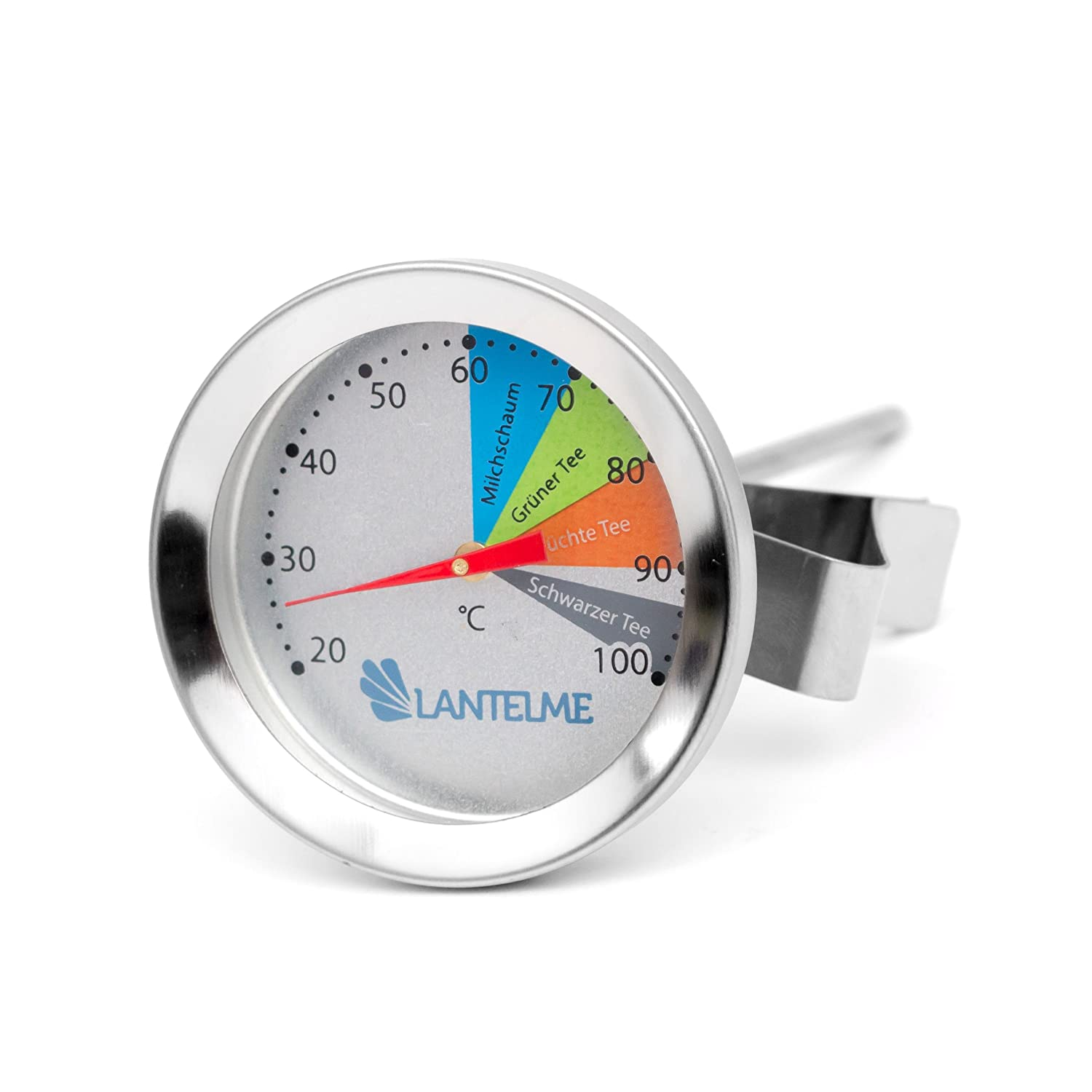 Combination Milk / Milk Foam / Tea Thermometer Made of Stainless Steel for Milk Jugs / Teapots / Cups and Much More Lantelme