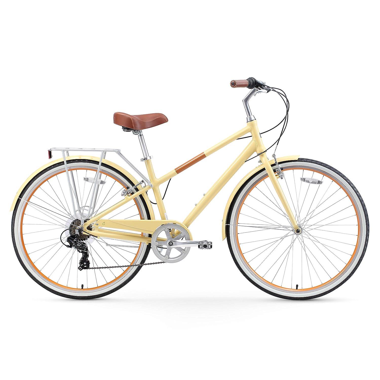 sixthreezero Reach Your Destination Women s Hybrid Bike with Rear Rack, 28 Inches, 7-Speed