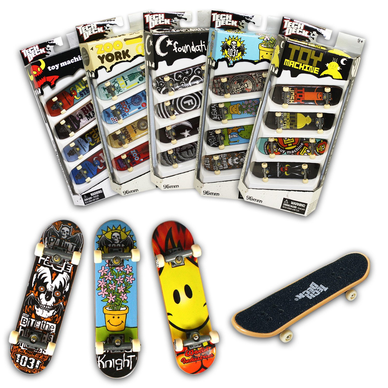 Tech Deck 96MM Fingerboards 4 Pack (Styles vary) by Spin Master