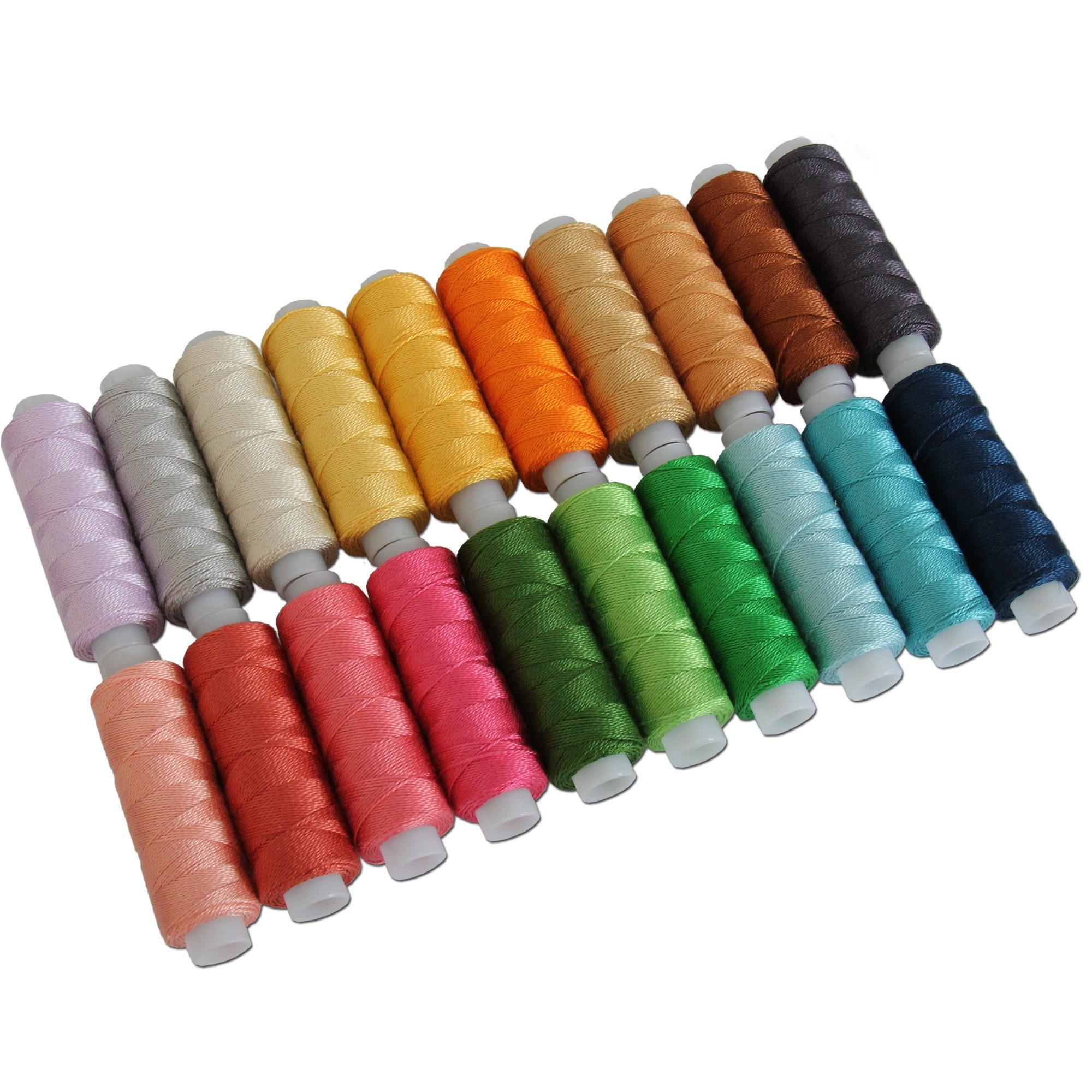 20 Colors of Perle Cotton Set B - 75yds - Size 8 - Threadart by Threadart