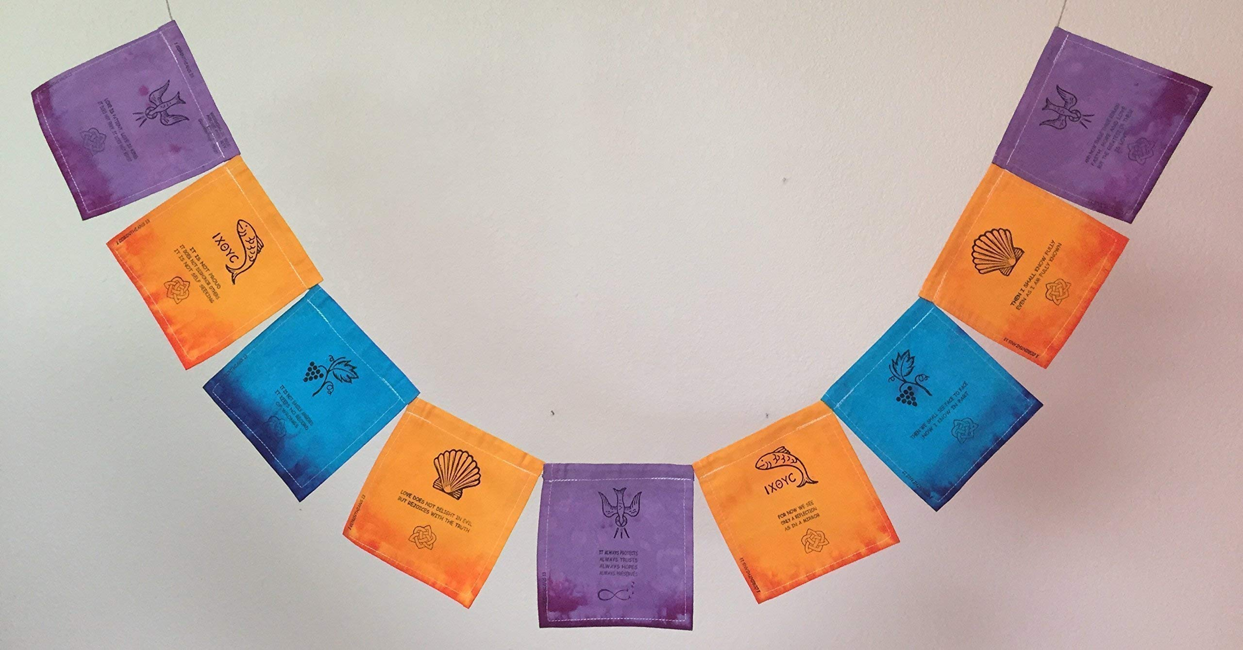 1 Corinthians Christian Prayer Flag''Love is patient, Love is kind.''. All proceeds to families in Mexico.