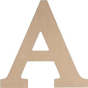 Unfinished Wooden Letters, Greek Letter A for Alpha (11.6 in.)